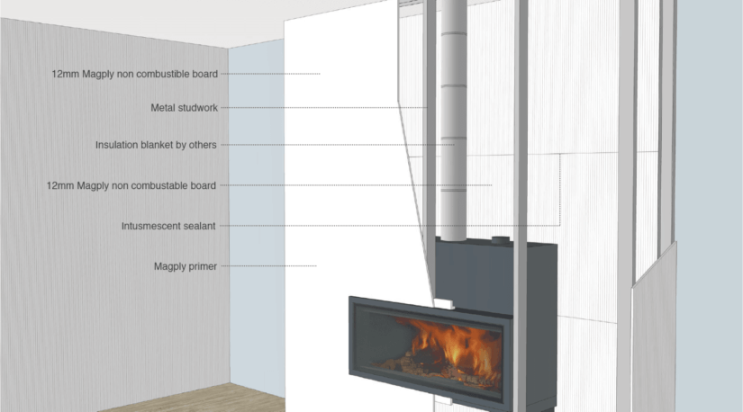 Magply Solid Fuel Appliance Inset