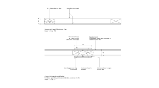 Magply Spandrel Panel 38x89mm Plans