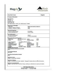 Magply 12mm data sheet