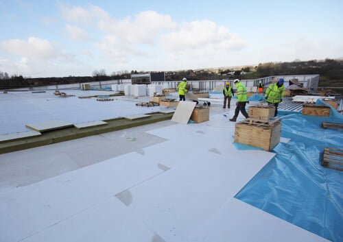 """Magply specified for roof build up on ballymena """"large church facility"""""""